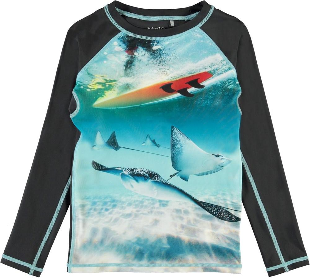 Neptune LS - Sting Ray - UV svømme t-shirt med print af rokker
