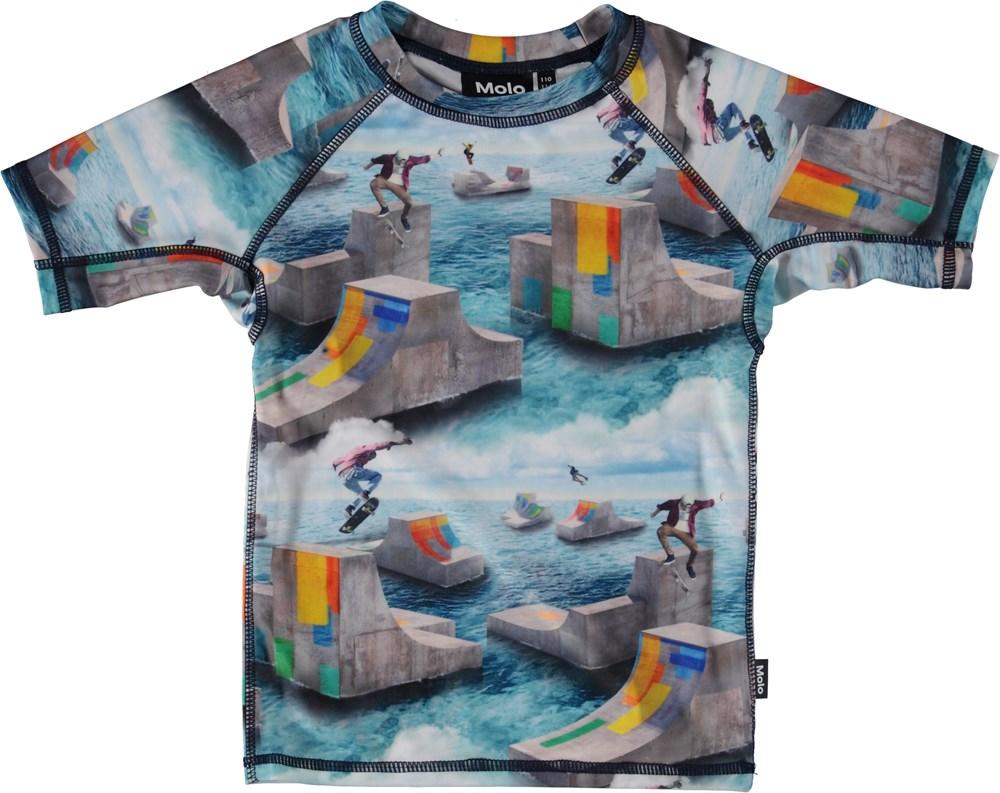 Neptune - Ocean Skate - Svømme t-shirt med skatere