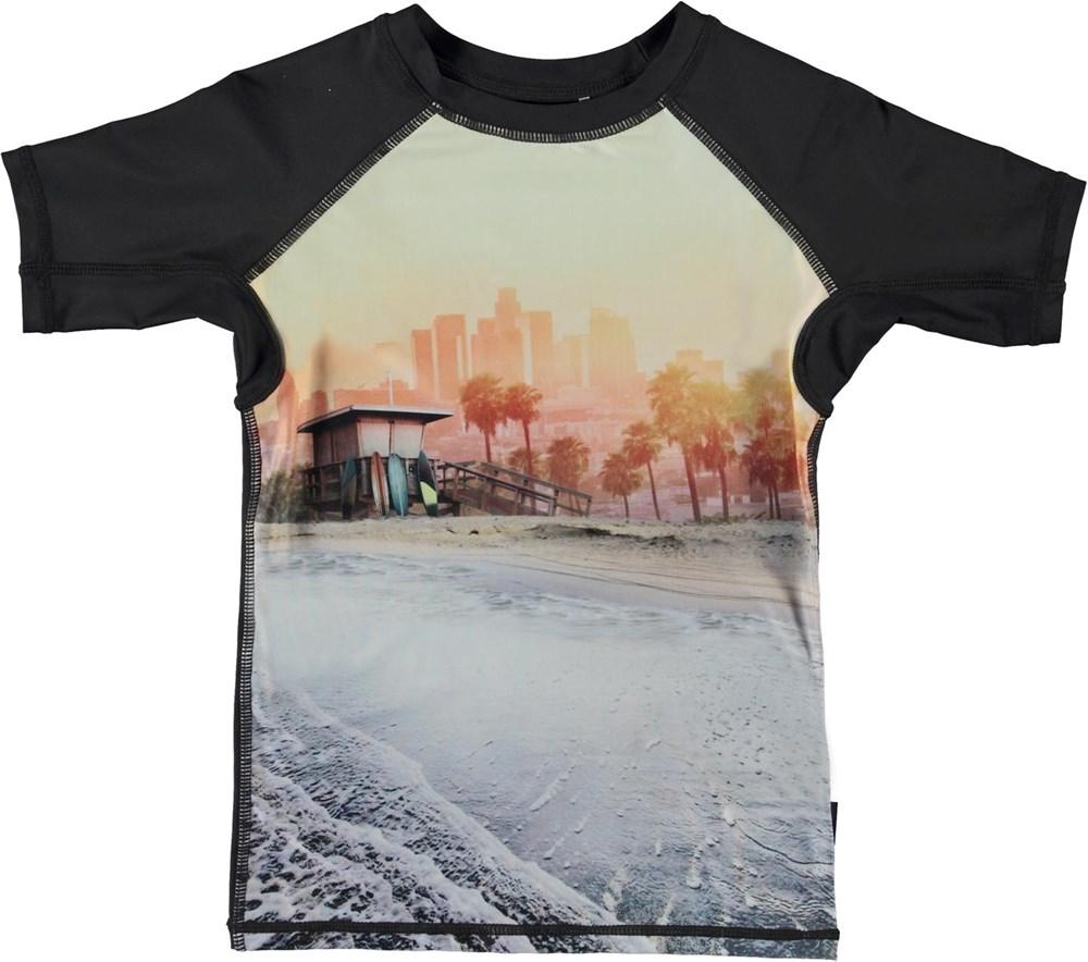 Neptune - Off Shore - UV svømme t-shirt med strand print