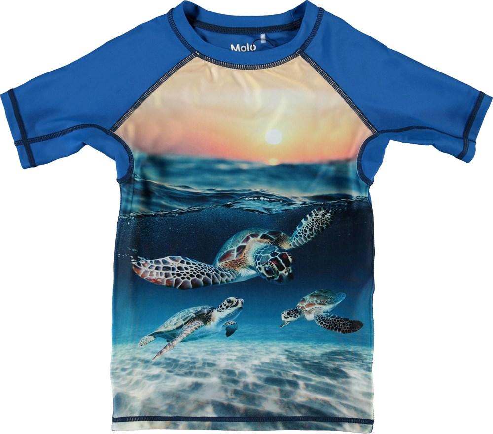 Neptune - Sea Turtle Sunset - UV svømme t-shirt med skildpadder