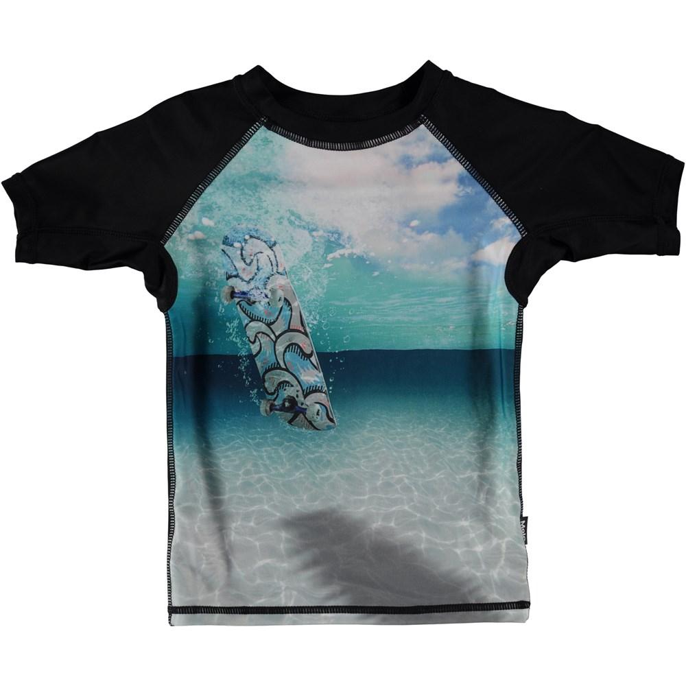 Neptune - Skateboard - Svømme t-shirt i med skateboard og hav