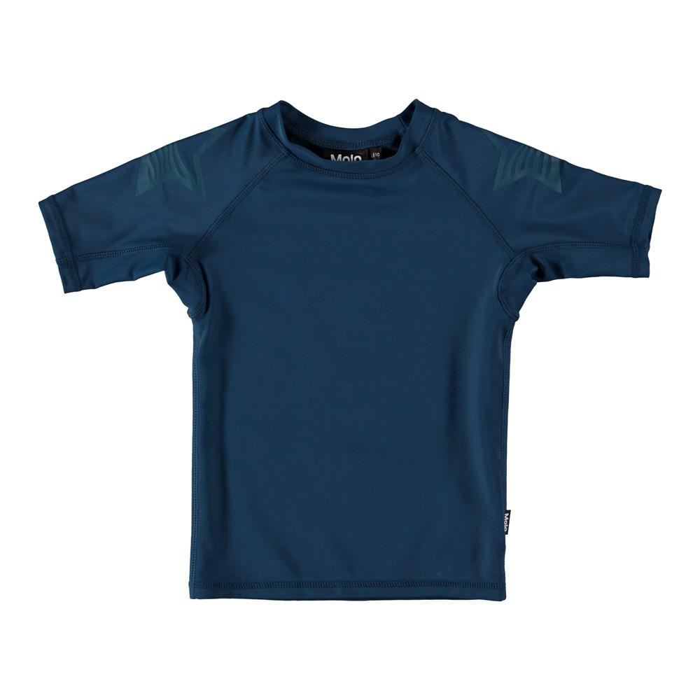 Neptune Solid - Deep Dive - Mørkeblå svømme t-shirt.