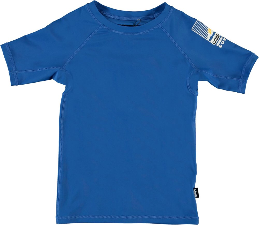 Neptune Solid - Snorkle Blue - UV sort svømmebluse