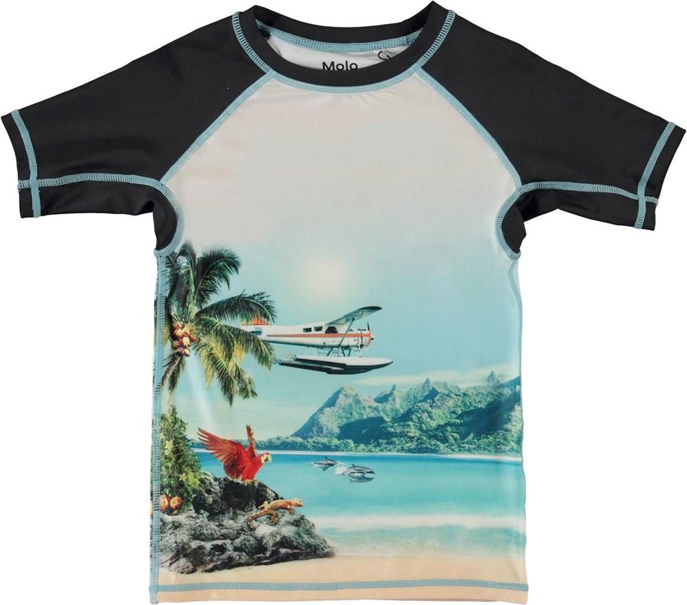 Neptune - Welcome To Hawaii - UV svømme t-shirt med hawaii print