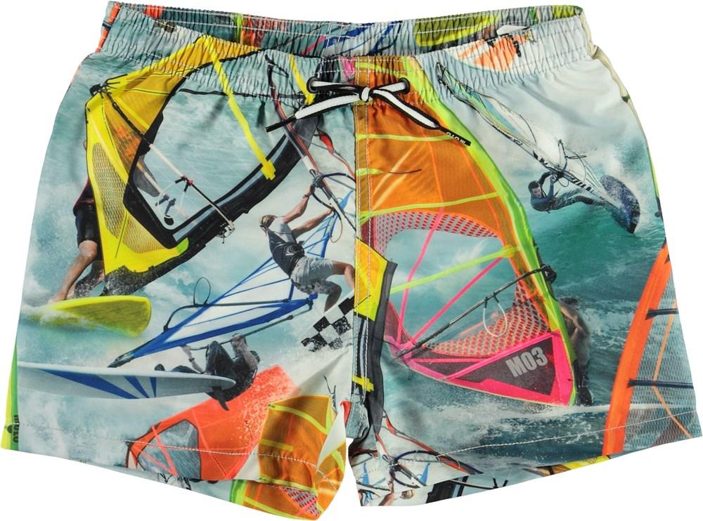 Niko - Windsurfers - UV badeshorts med surf print