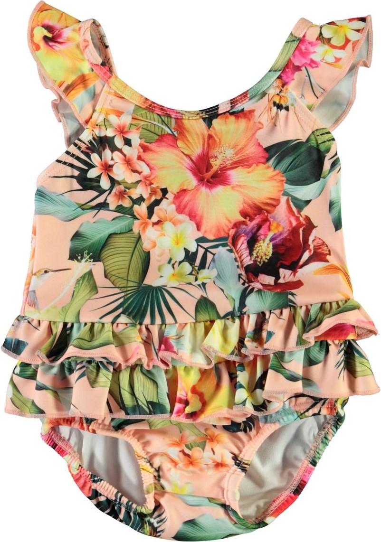 Nalani - Hawaiian Flowers - UV baby-baddräkt med blommor