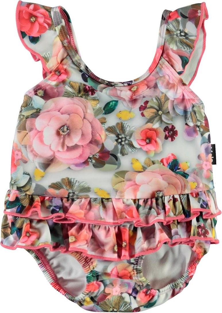 Nalani - Sequins Flowers - Baby-baddräkt med paljetter