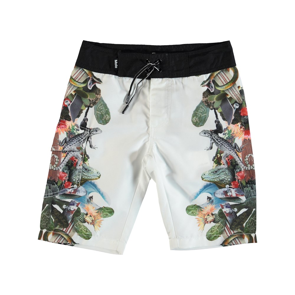 Nalvaro - Tropical Fever - Boardies med tropiskt tryck