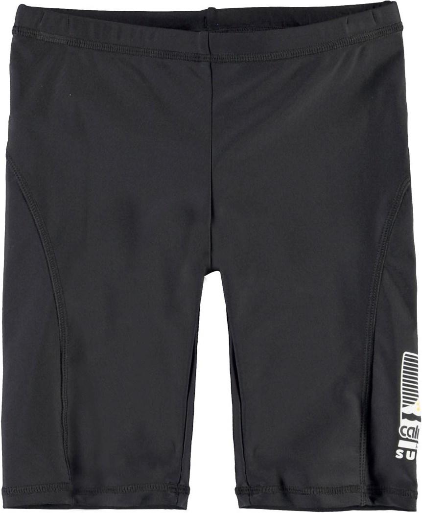 Navin - Black - Svarta långa badbyxor med UV