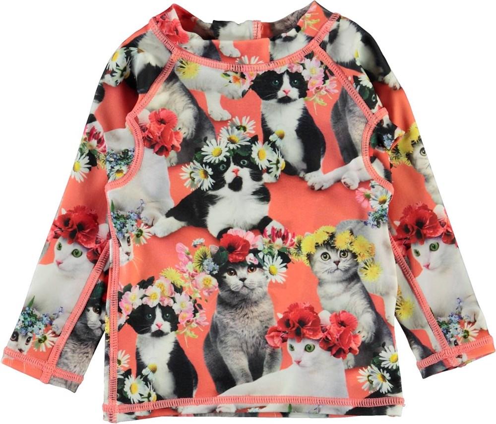 Nemo - Flower Power Cats - Baby UV-tröja med katter