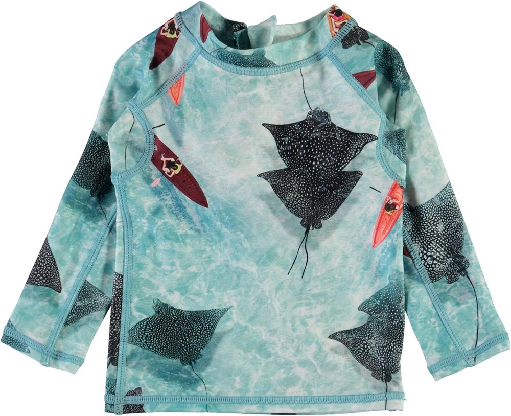 Nemo - Hawaiian Ocean - UV-tröja med rockor till baby