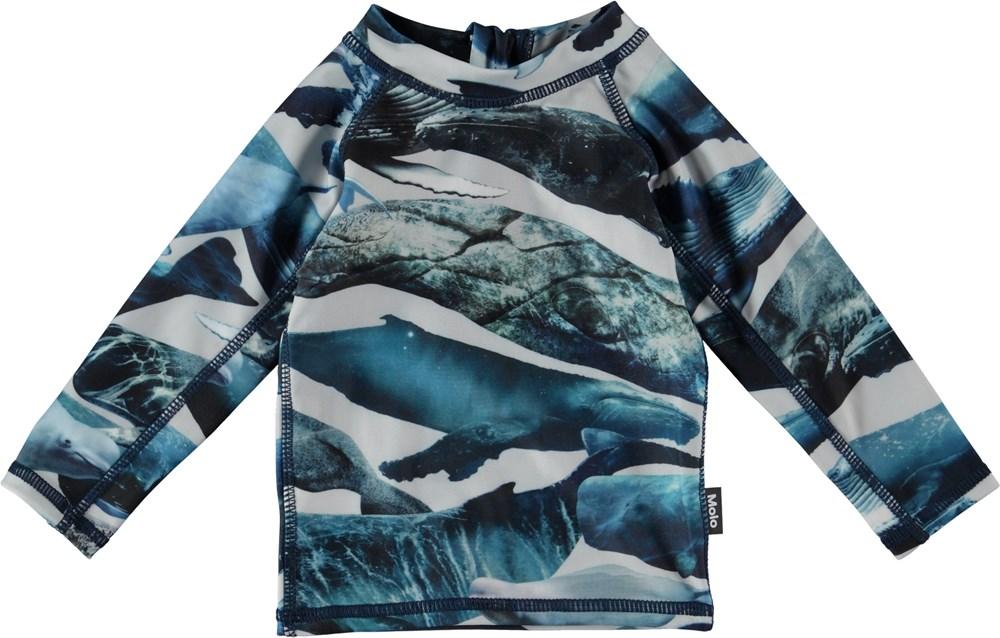 Nemo - Whales - Långärmad badtröja med valar