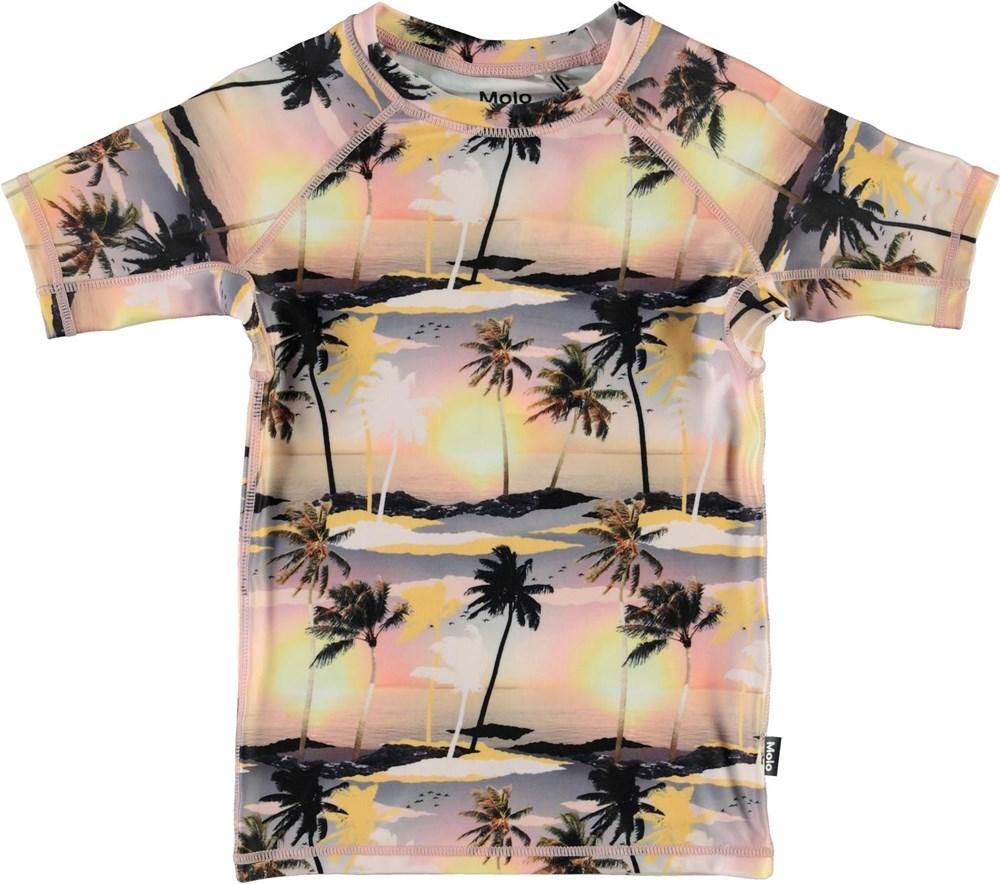 Neptune - Sunset - UV t-shirt med palmer