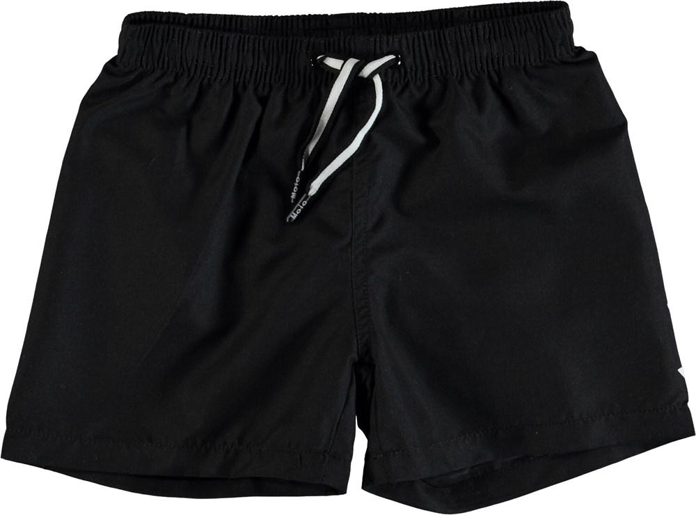 Niko Solid - Black - Svarta badshorts