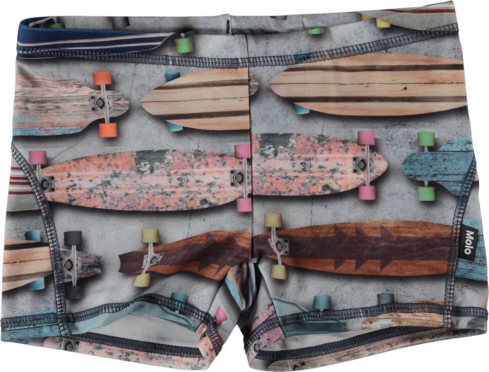 Norton - Board Stripe - Korta badbyxor med skateboards.