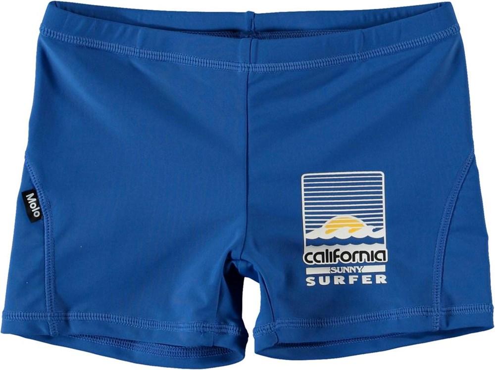 Norton Solid - Snorkle Blue - Blåa korta badbyxor med UV-skydd