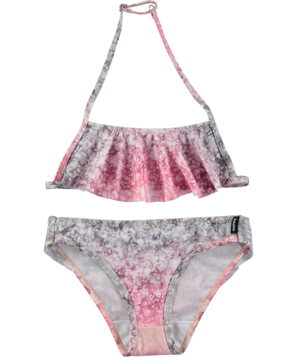 Nula - Glitter - Bikini med volanger och digitaltryckt glitter
