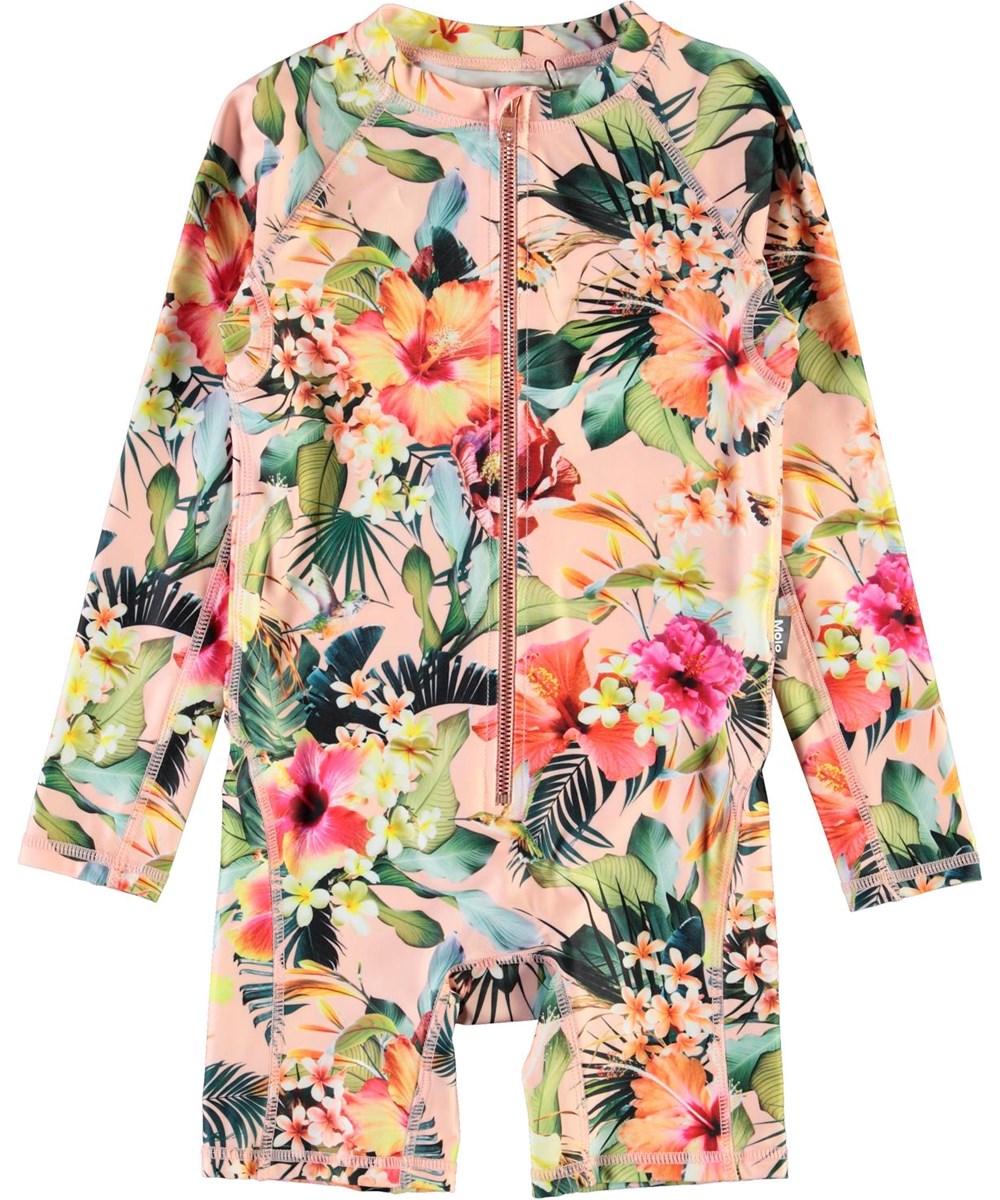 Neka LS - Hawaiian Flowers - UV zwempak met bloemenprint