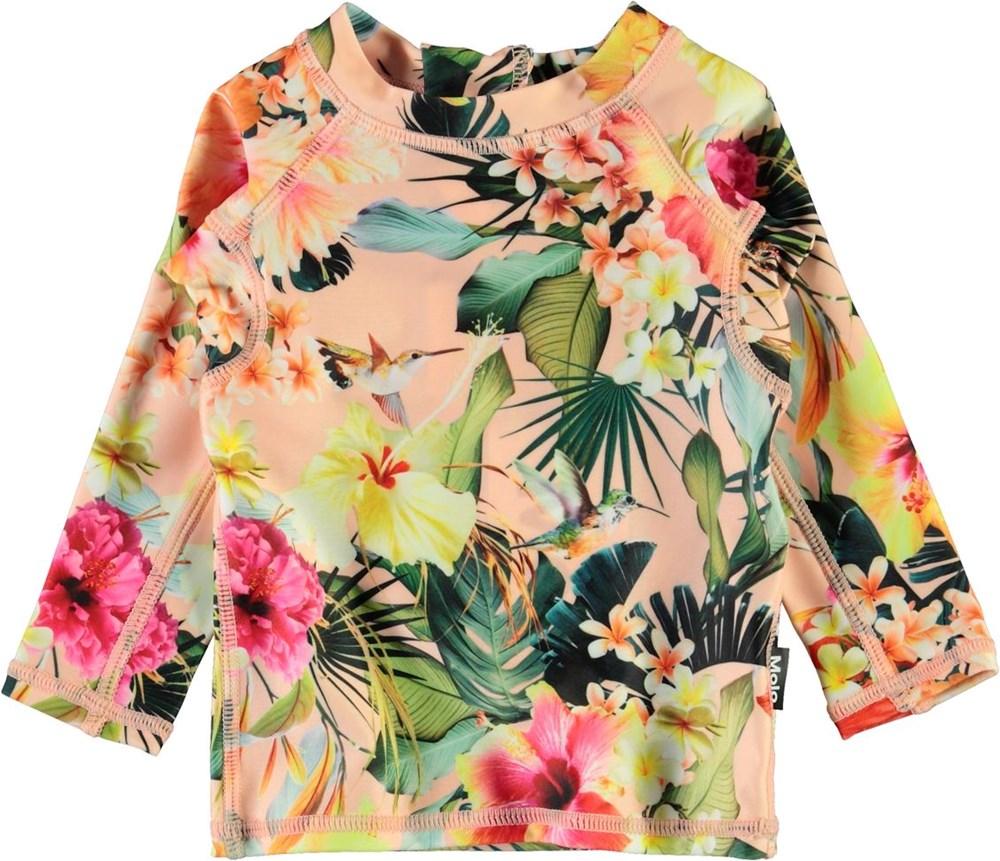 Nemo - Hawaiian Flowers - UV baby zwemshirt met bloemenprint