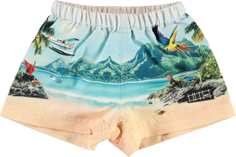 Newton - Welcome To Hawaii - UV baby zwembroek met strandprint