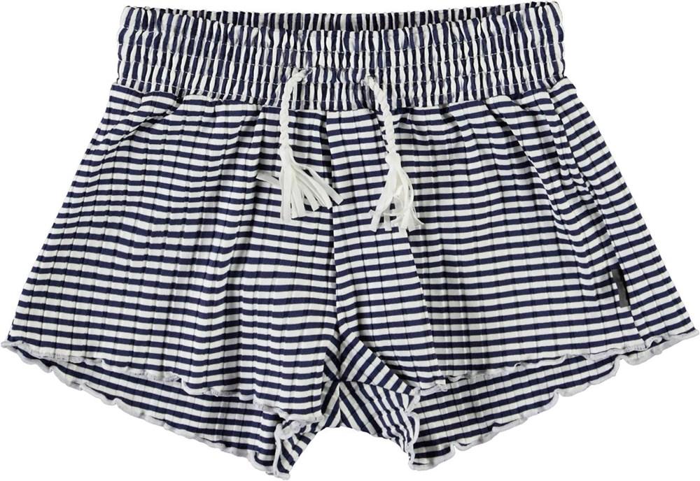 Nicci - Navy Stripe - Blauw en wit gestreepte zwemshort