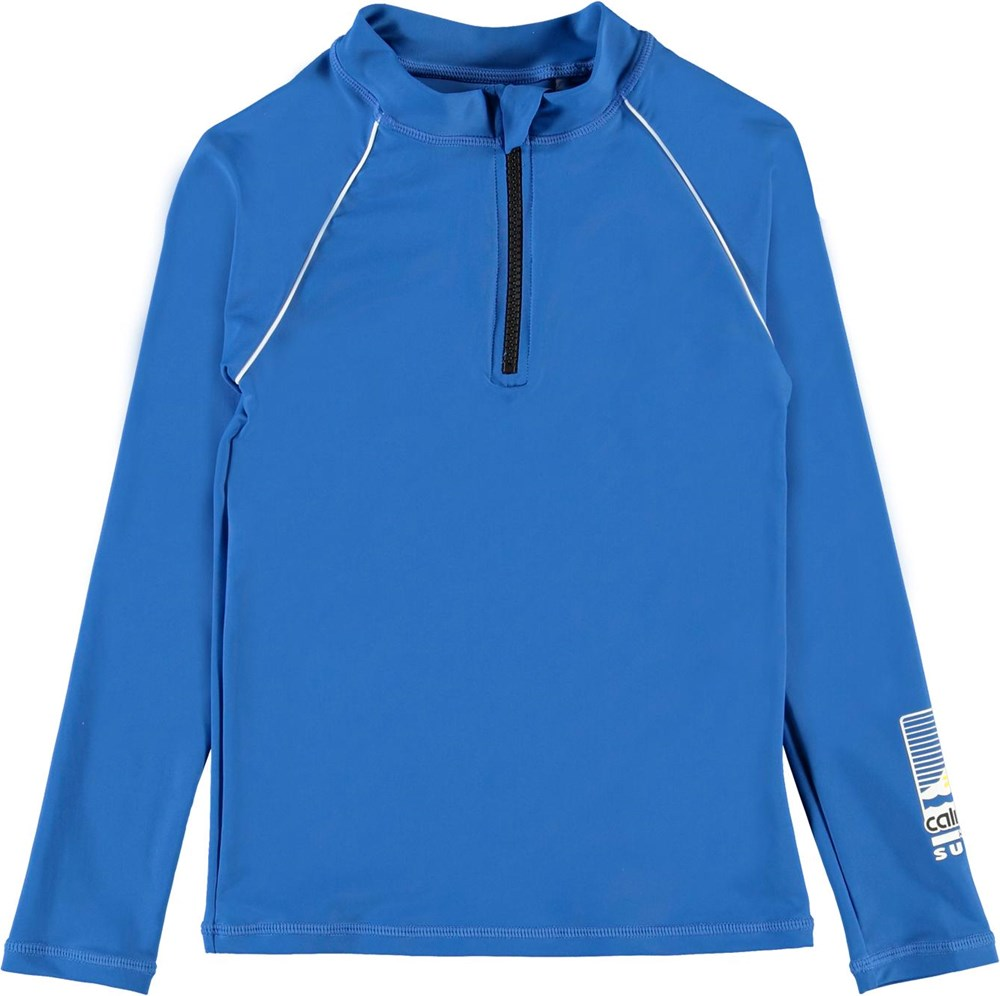 Noble - Snorkle Blue - UV blauwe zwemshirt met rits