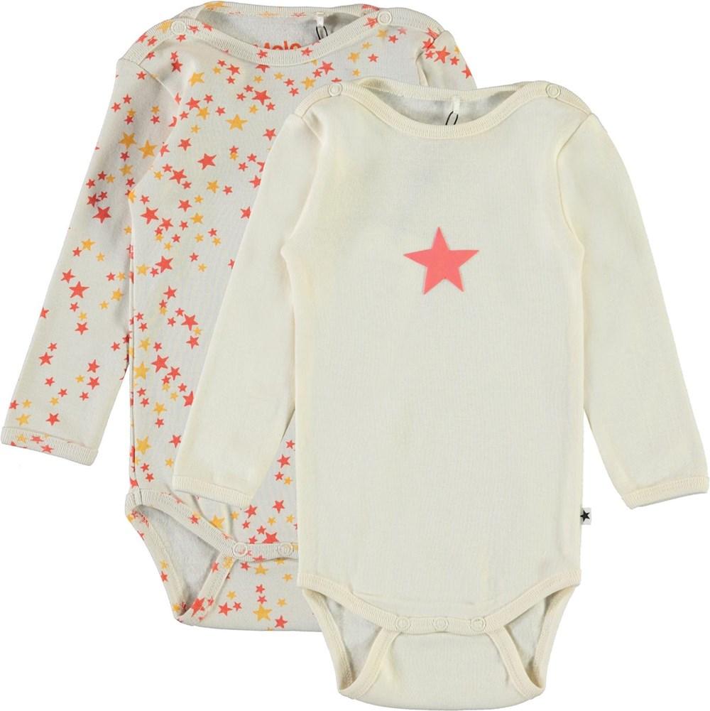 Foss 2-Pack - Pearled - Starry - Ekologisk 2-pack babybody med stjärnor
