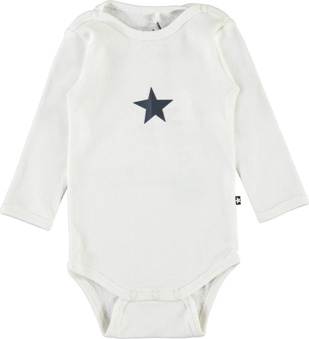 Foss - White Star - Vit babybody med stjärna