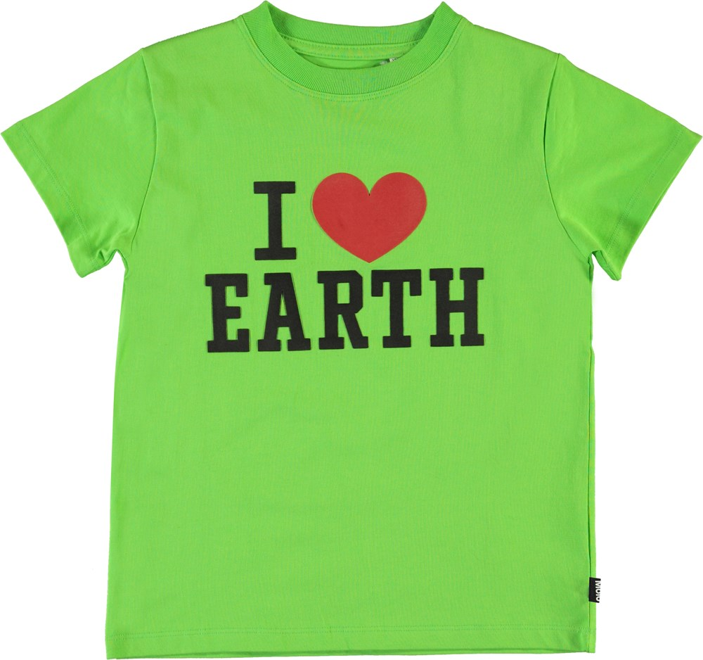 Reeve - Green Flash - I love earth t-shirt