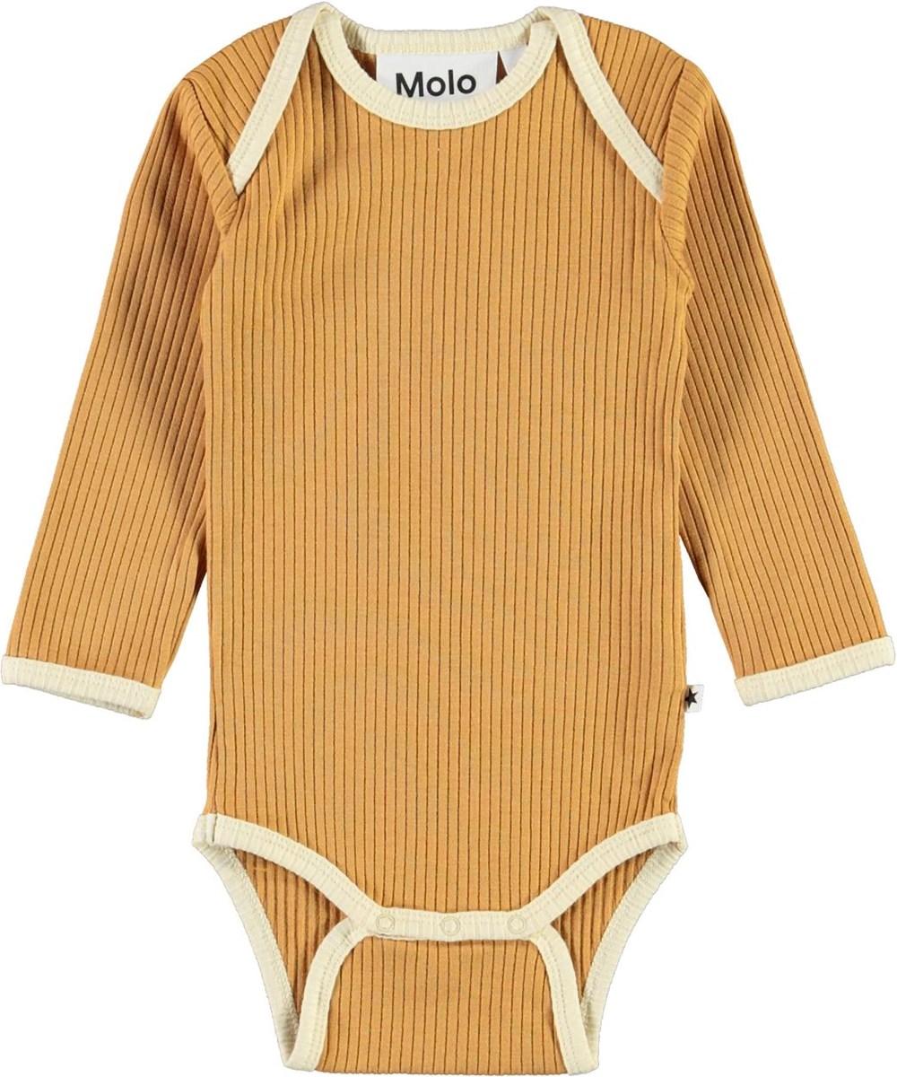 Faros - Honey - Golden rib baby bodysuit