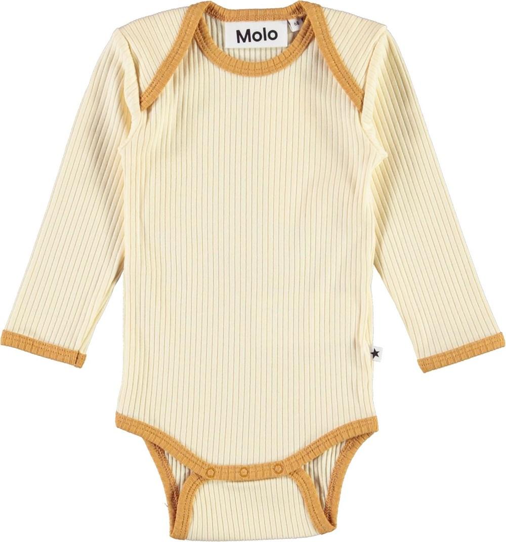 Faros - Marzipan - Beige rib baby body