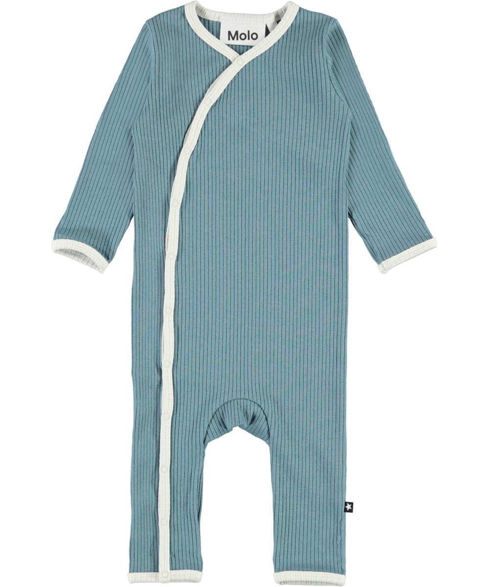 Fellow - Aero - Light blue baby bodysuit with light coloured edge tape