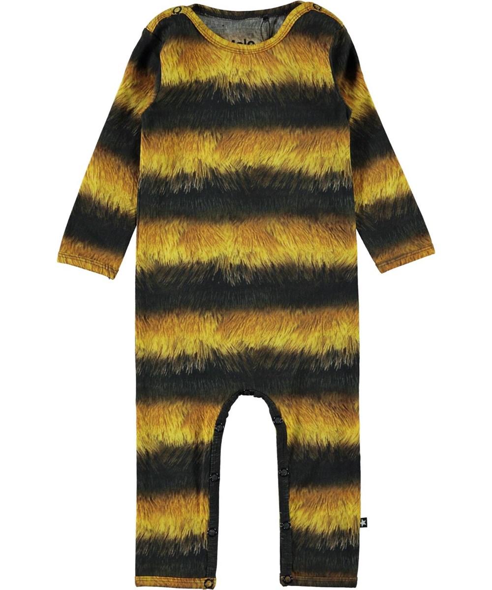 Fenez - Bee - Black and yellow organic baby bodysuit bee