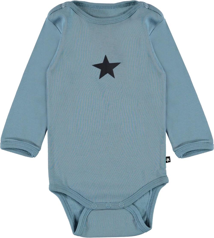 Foss - Aero - Light blue organic baby bodysuit star