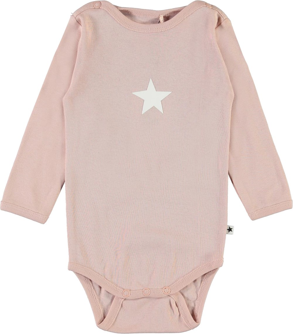 Foss - Petal Blush - Rose organic baby bodysuit