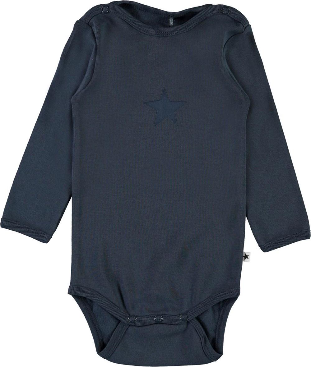 Foss - Summer Night - Dark blue organic baby bodysuit