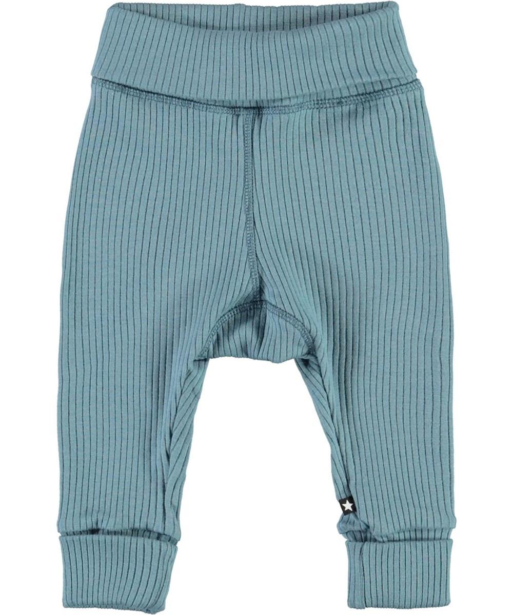 San - Aero - Lyseblå rib baby bukser