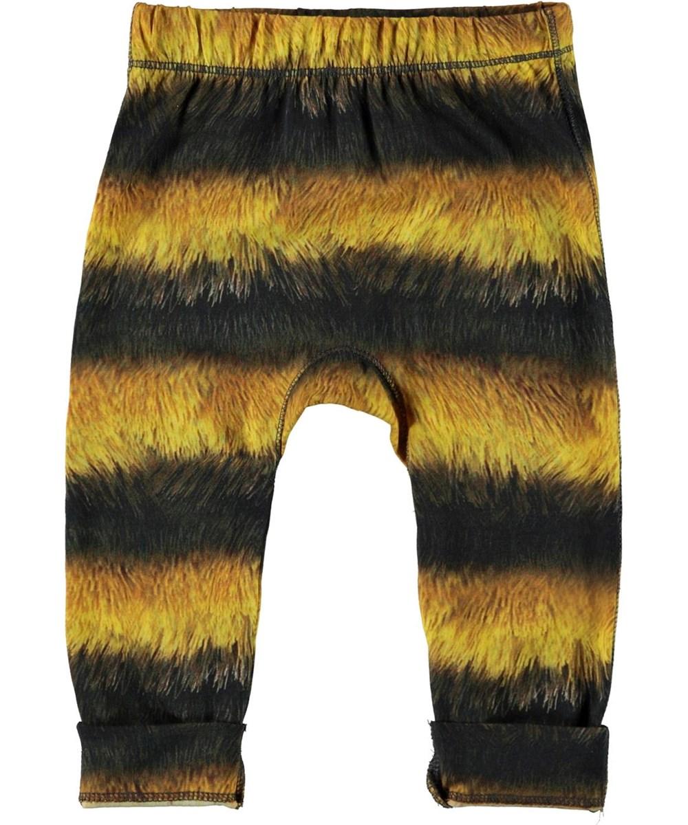 Seb - Bee - Økologiske sorte og gule bi baby bukser