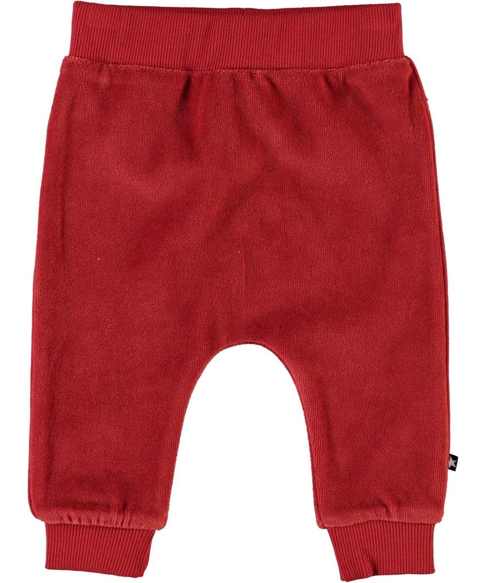 Stein - Bossa Nova - Røde velour baby sweatpants