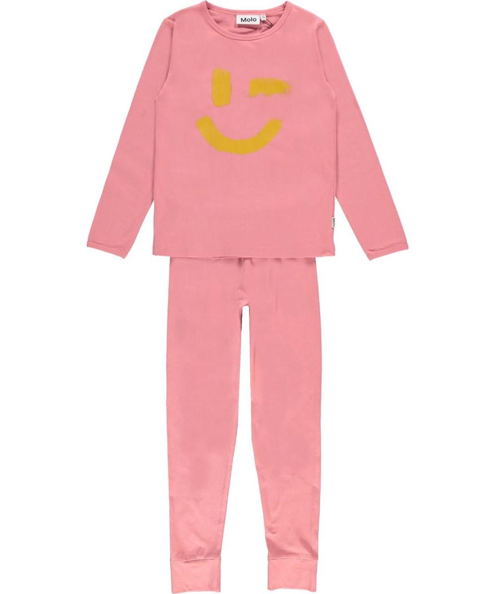 Lov - Vintage Rose - Nightwear set in pink with smiley face