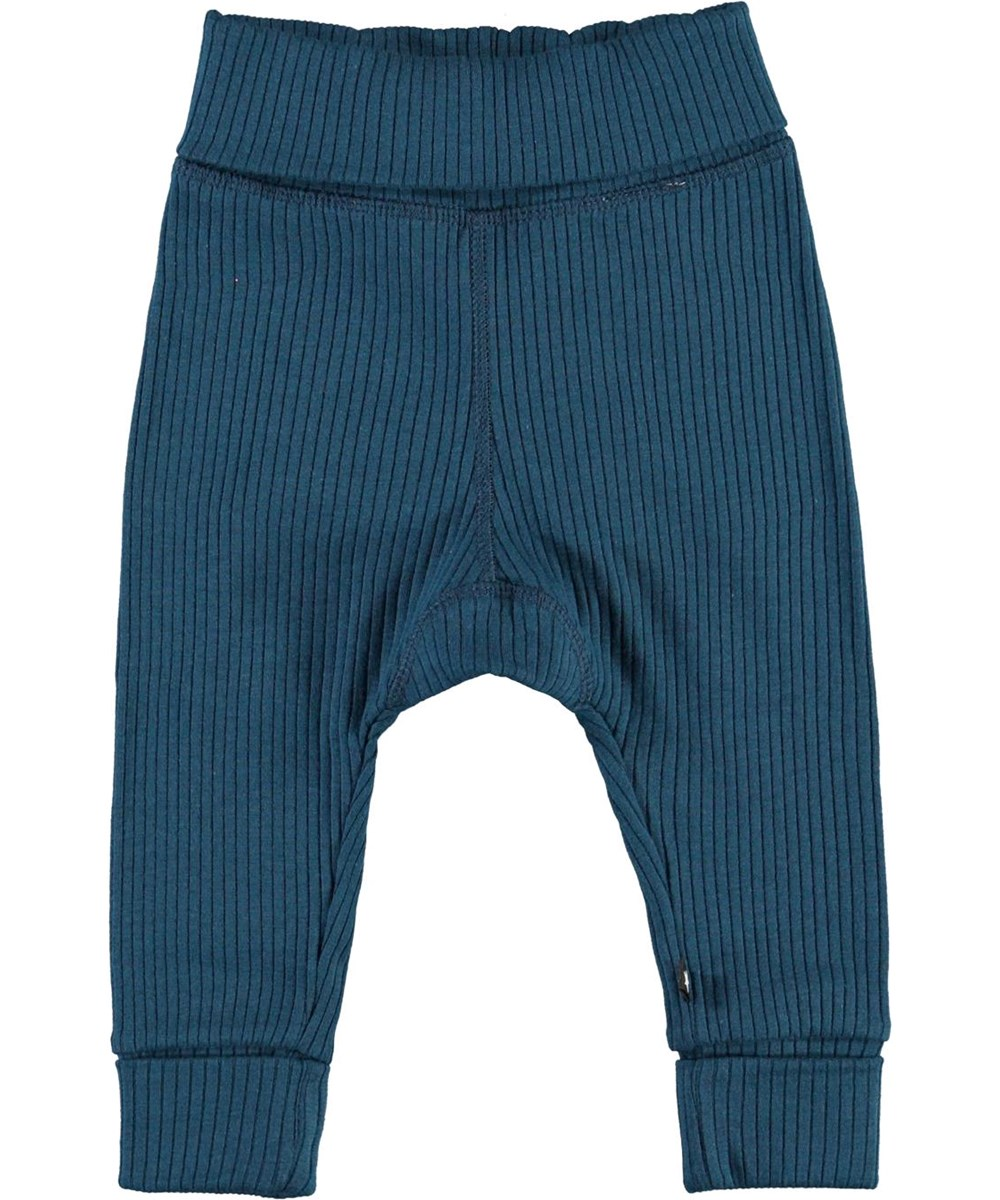 San - Sea - Dark blue rib baby trousers