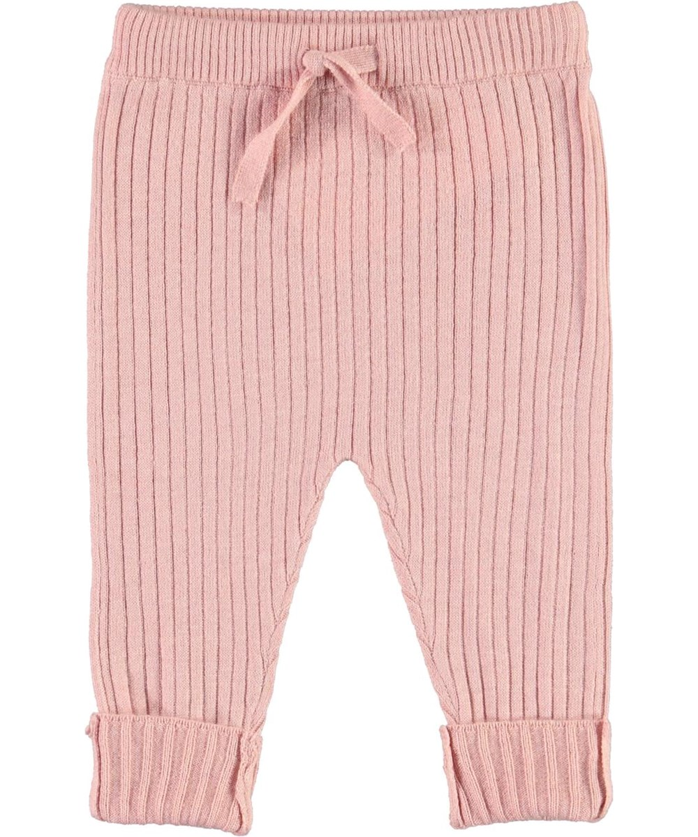 Shadow - Rosequartz - Knit baby trousers in pink