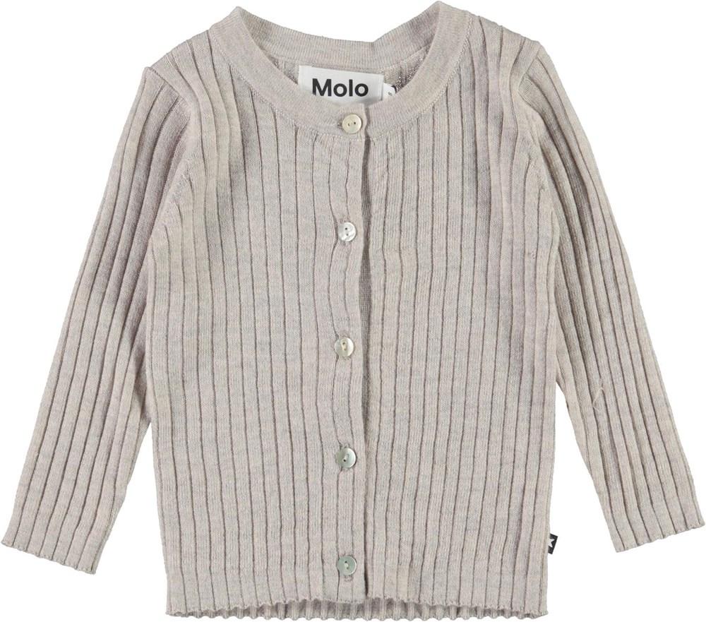 Georgette - Doeskin Melange - Grey baby knit cardigan