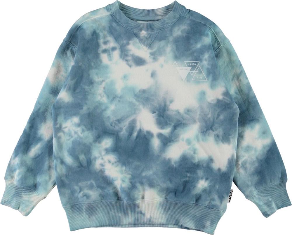 Mann - Tie Dye - Blue and white tie-dye sweatshirt