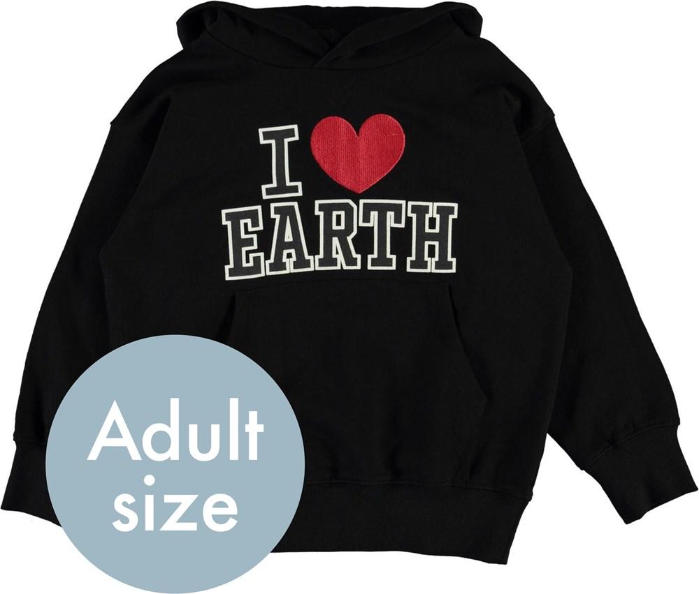 Moz - Black - I love earth hoodie