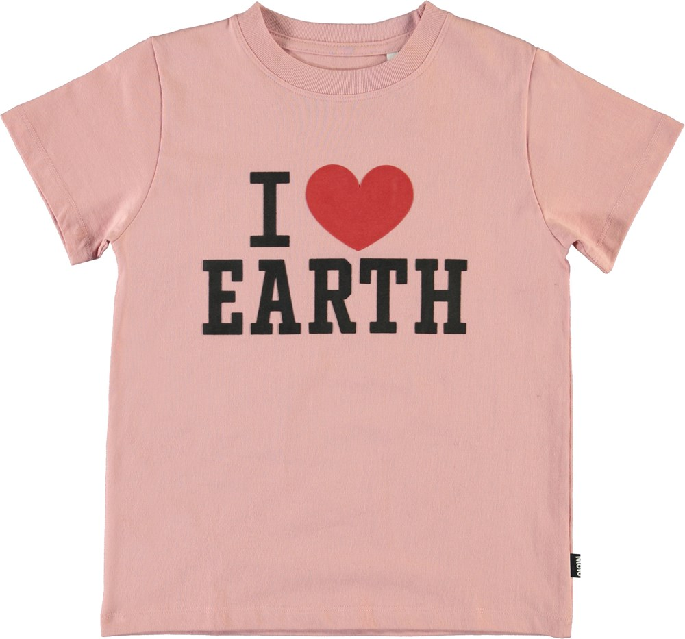 Reeve - Rosequartz - I love earth t-shirt