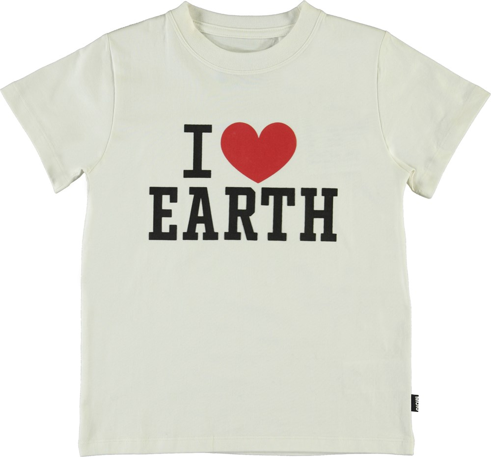 Reeve - White Star - I love earth t-shirt