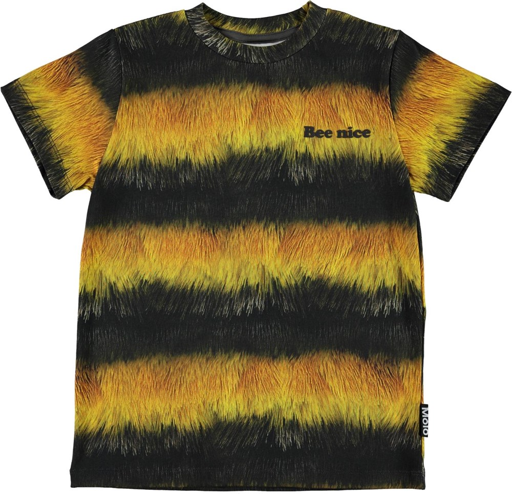 Road - Bee - White organic t-shirt with bee nice