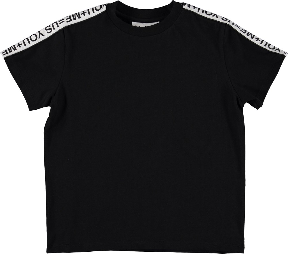 Roxo - Black - Black t-shirt with matter.