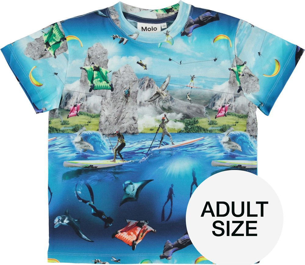 Roxo Adult - Go Extreme - Organic t-shirt with extreme sport print